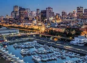 Photo Night Marina Montreal Canada